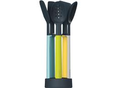 Набор силиконовых кухонных инструментов Elevate Оpal на подставке, 5 шт. фото