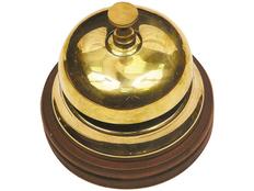Настольный звонок для совещаний, золотой, коричневый фото