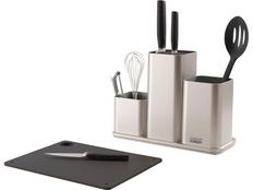 Органайзер для кухонной утвари CounterStore, черный/серебристый фото