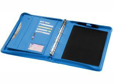 Папка для документов на молнии с блокнотом и регистратором Ebony А4, бирюзовая фото