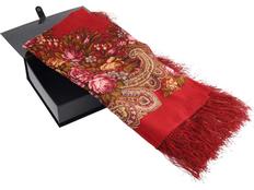 Павловопосадский платок, красный фото