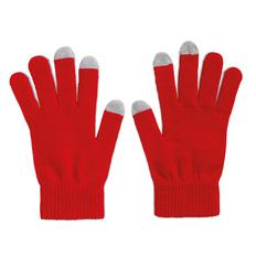 Перчатки для сенсорных экранов, красные фото