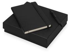 Набор подарочный Moleskine Sherlock: блокнот А5, ручка шариковая, черный фото