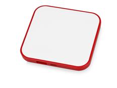 Зарядное устройство портативное Квадрум, 2600 mAh, белое/красное фото