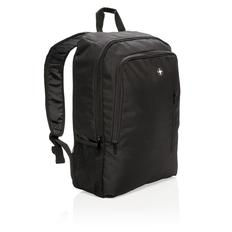 Рюкзак для ноутбука 17'' Swiss Peak Business, сетчатый карман для бутылки, черный фото