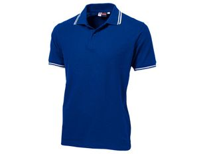 Рубашка поло мужская US Basic Erie, синяя фото