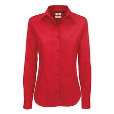Рубашка с длинным рукавом женская B&C Sharp LSL women, красная фото