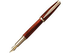 Ручка перьевая Pierre Cardin Majestic, черная / коричневая фото