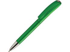 Ручка пластиковая шариковая Ines Solid, зеленая фото