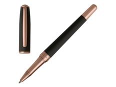 Ручка роллер Hugo Boss Essential, черная / золотая фото