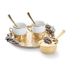 Набор кофейный You and me, на 2 персоны, белый фото