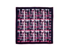 Платок шелковый Ungaro Ungaro Tweed, синий/ розовый фото