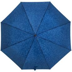 Зонт складной с проявляющимся рисунком полуавтомат Magic, синий фото