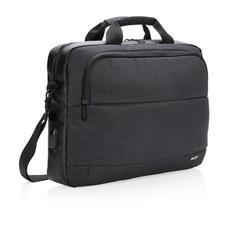 Сумка Swiss Peak для ноутбука 15, лямка для крепления на ручку чемодана, черный фото