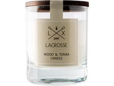 Свеча ароматическая в стекле Дерево & Тонка, бежевый фото