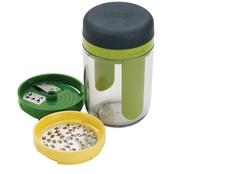 Терка спиралайзер с тремя лезвиями и контейнером для хранения Spiro, зеленый, желтый фото