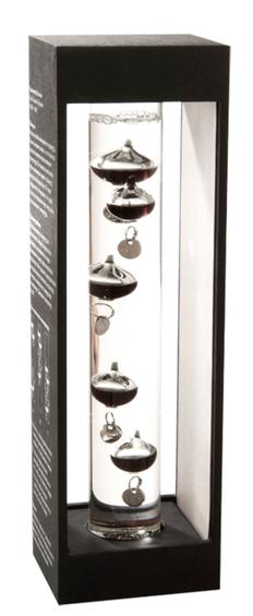 Термометр Галилео Галилей, черный / прозрачный фото
