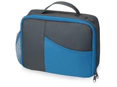 Сумка-холодильник изотермическая Breeze для ланч-бокса, серая / голубая фото