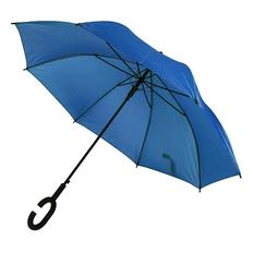 Зонт трость полуавтомат Halrum, С-образная ручка soft souch, синий фото
