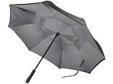 Зонт трость наоборот полуавтомат Marksman Lima, черный / серый фото