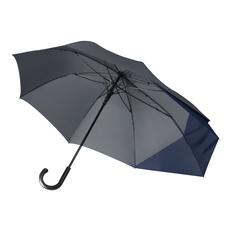 Зонт трость несимметричный полуавтомат Portobello Dune, серый/ темно-синий фото
