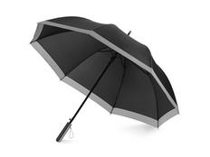 Зонт-трость Reflect, черный / серый фото
