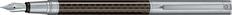 Ручка перьевая Senator Carbon-Line, углепластик, черный / серебристая фото