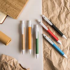 Ручка шариковая пластиковая NeoPen Eco Touch, картонная вставка, коричневая фото