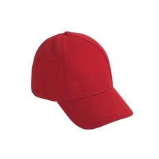 Бейсболка Base&Caps, 6 клиньев, красная фото
