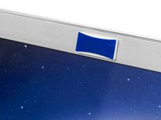 Закрывашка для камеры прямоугольная со шторкой, синяя фото