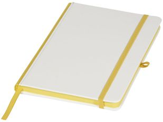 Блокнот в линейку на резинке Journalbooks Solid А5, 80 листов, белый/ желтый фото