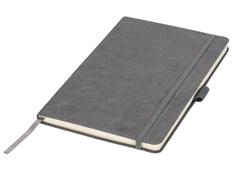 Блокнот в линейку на резинке Journalbooks Suede А5, серый фото