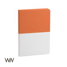Ежедневник недатированный Wownote Палермо А5, коричневый/ белый фото
