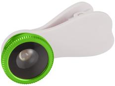 Линза рыбий глаз с клипом, белая/зеленая фото