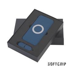 Набор Powerfolio Камень: внешний аккумулятор Камень 8000 mAh, флешка Камень 16 Гб, синий фото