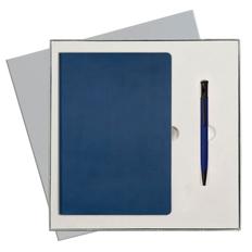 Набор подарочный Portobello Rain: ежедневник недатированный А5, ручка шариковая, синий фото