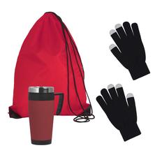 Набор подарочный Зимняя прогулка, черный/ красный фото