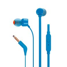 Наушники проводные внутриканальные, гарнитура, JBL T110, синие фото