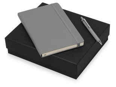 Набор подарочный Moleskine Hemingway: блокнот А5, ручка шариковая, серый фото