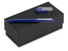 Набор подарочный Skate Mirror: ручка шариковая, флешка 8 Гб, синий фото