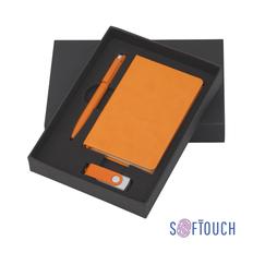 Подарочный набор Сорренто с блокнотом А6, покрытие soft touch, оранжевый, оранжевый фото