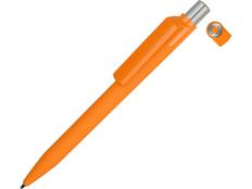 Ручка шариковая пластиковая Uma On Top Si Gum, soft touch, оранжевая фото