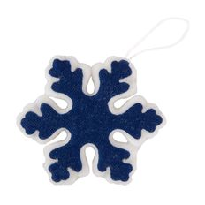Украшение новогоднее Snowflake из фетра, синее фото