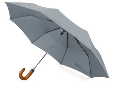 Зонт складной полуавтомат Cary, серый фото