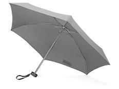 Зонт складной компактный в футляре механический US Basic Frisco, серый / черный фото