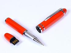 Флешка USB 2.0 на 8 Гб в виде ручки с мини чипом, красная фото