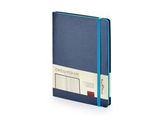 Ежедневник недатированный Bruno Visconti Megapolis Soft А5, синий/ голубой фото