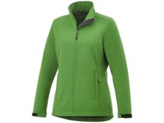 Куртка софтшел женская Elevate Maxson, зеленая фото