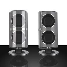 Шкатулка для часов с подзаводом, черный/серый металлик фото