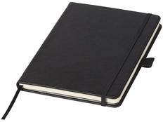 Блокнот в линейку на резинке Luxe А5, 80 листов, подарочная коробка, черный фото